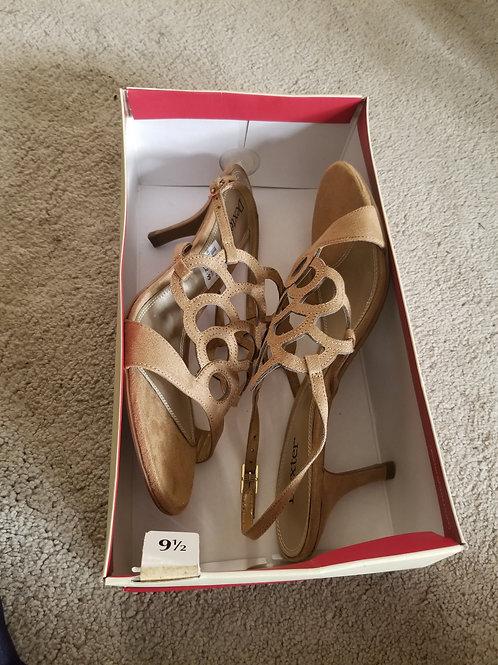 New. Beige Scallop Design Sandal Shoes