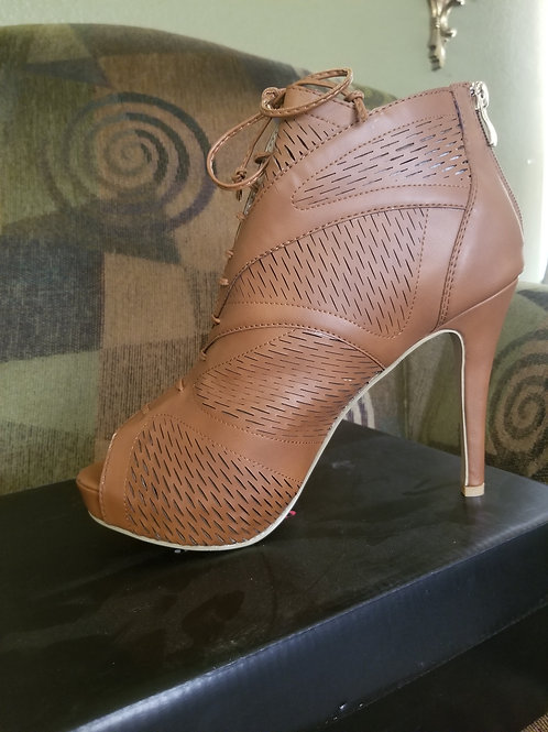 New. Leather Bootie-Style Shoes