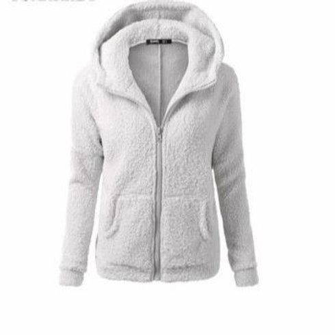 Fleece Fur Front Pocket Jacket