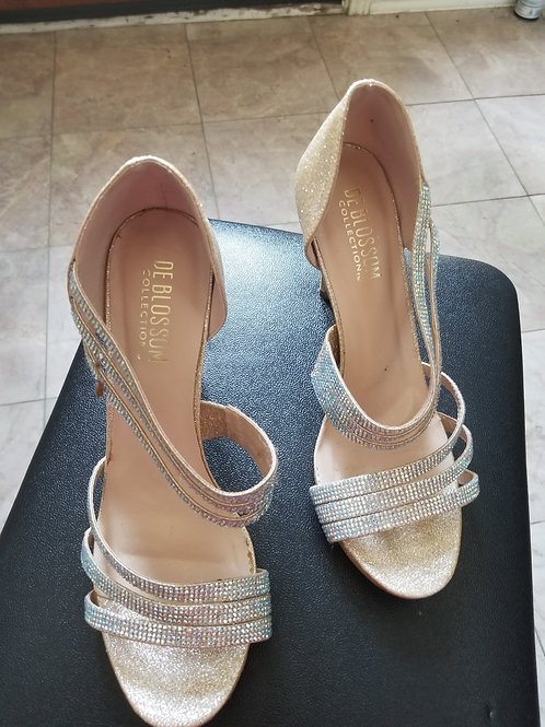 Like New-Sparkle Scrap Sandal Heel Pumps Shoes