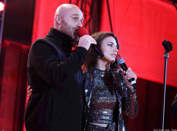 Silvia Cecchini  e Rudi Zerbi Deejay on
