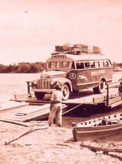 Antiga barca de travessia do Rio Camaquã