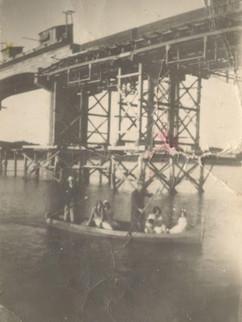 Construção da ponte do Rio Camaquã