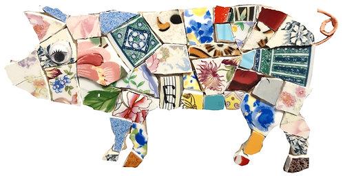 kit mosaique Cochon Napoléon