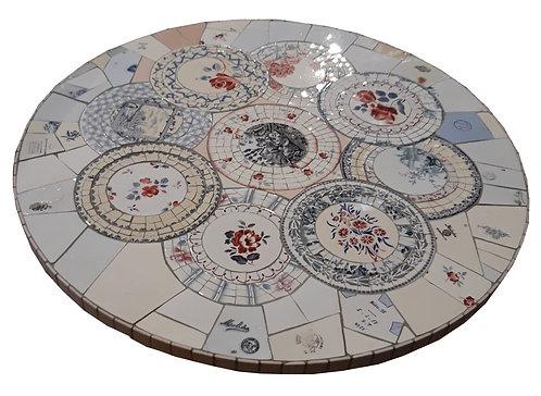 plateau de table Mosaique vaisselle picassiette
