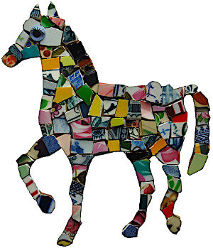 KIT MOSAIQUE CHEVAL PONEY