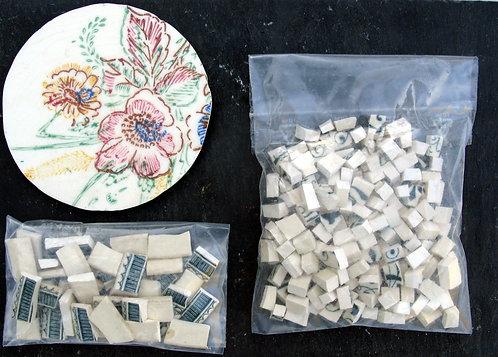 assiette découpée pour mosaïque