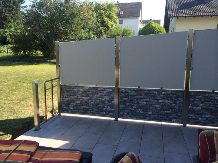 Sichtschutz in Maueroptik