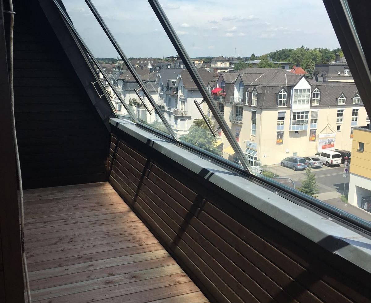 Glasfront für Loftterrasse