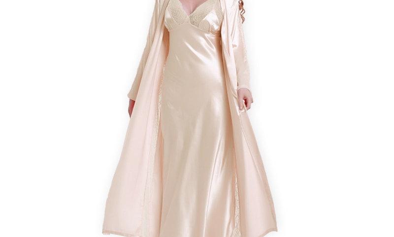 Silk Robe + Nightdress Two-Piece
