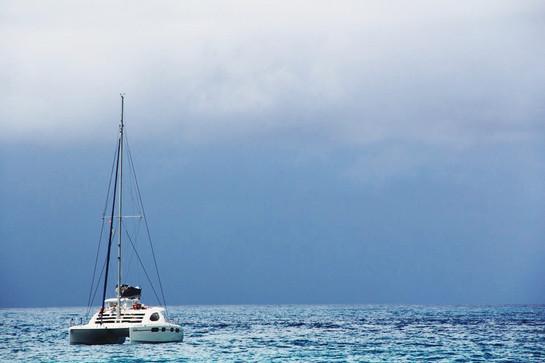 boat off seychelles