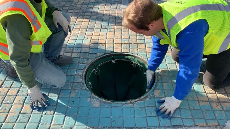"""24"""" Round Manhole Under-Grate Filter"""