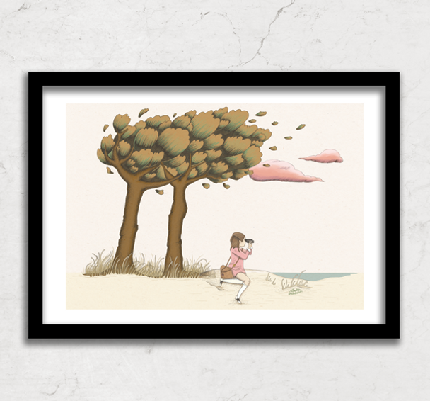Dreamy drawing of Suzy, Moonrise Kingdom, Wes Anderson
