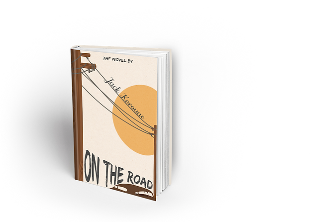 Book cover design of On the road