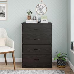 Mainstays  4 Drawer Black Oak Color Classic Dresser