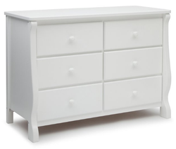 Delta Children 6 Drawer White Color  Dresser
