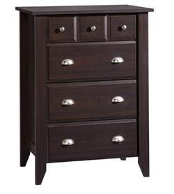 Sauder 4 Drawer Jamocha Wood Color Shoal Creek Dresser