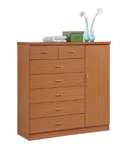 Hodeah 7 Drawer Cherry Color Jumbo Dresser