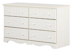 South Shore 6 Drawer White Color Summer Breeze Dresser