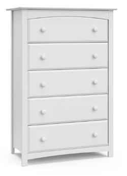 STORKCRAFT 5 Drawer White Color Kenton Dresser