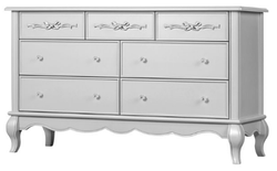 EVOLUR 7 Drawer Akoya Grey Pearl Color Aurora Dresser