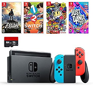 Nintendo Switch 32gb Bundle Pack Neon Re