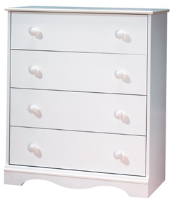 SOUTH SHORE 4 Drawer Pure White Color Chest Dresser