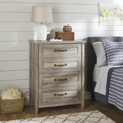Better Homes 4 Drawer Rustic Gray Color Gardens Modern Dresser