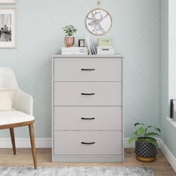 Mainstays  4 Drawer Dove Gray Color Classic Dresser