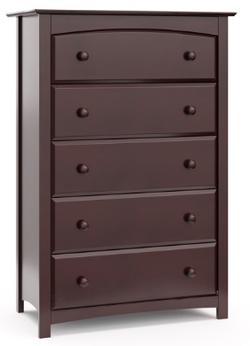 STORKCRAFT 5 Drawer Espresso Color Kenton Dresser