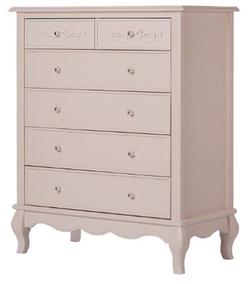 EVOLUR 5 Drawer Blush Pink Pearl Color Aurora Dresser