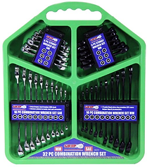 GRIP 32pc SAE and METRIC size Box End En