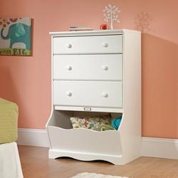 SAUDER 3 Drawer Soft White Color Pogo Dresser