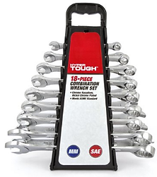 HYPER TOUGH 18pc Metric and SAE size Box