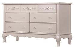 EVOLUR 7 Drawer Blush Pink Pearl Color Aurora Dresser