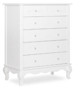 EVOLUR 5 Drawer Frost Color Aurora Dresser