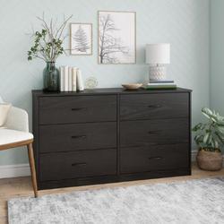 Mainstays  6 Drawer Black Oak Color Classic Dresser