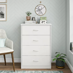 Mainstays  4 Drawer White Color Classic Dresser