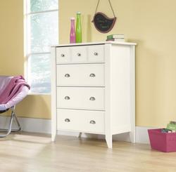 Sauder 4 Drawer Soft White Color Shoal Creek Dresser