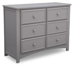 DELTA CHILDREN 6 Drawer Gray Color Mason Dresser
