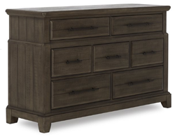 EVOLUR 6 Drawer Distressed Timber Color Empire Double Dresser