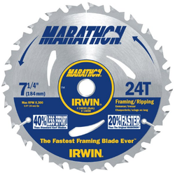 IRWIN 7 1/4-inch 24 teeth Marathon Circular Saw Blade