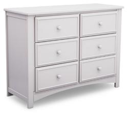 DELTA CHILDREN 6 Drawer White Color Mason Dresser