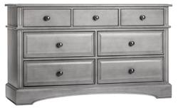 EVOLUR 7 Drawer Storm Grey Color Dresser