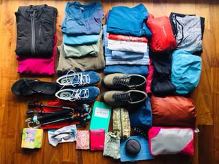 Packen - nur das aller nötigste darf mit!