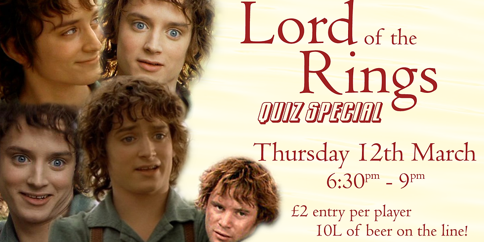 PUB QUIZ: Lord of the Rings