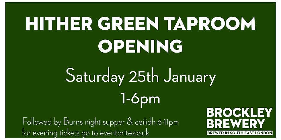 Hither Green Taproom Opening