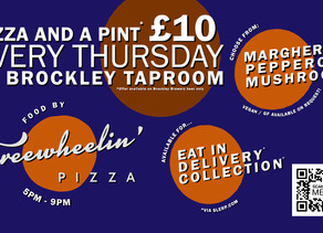Pizza and Beer available to order 5-9pm Thursdays!