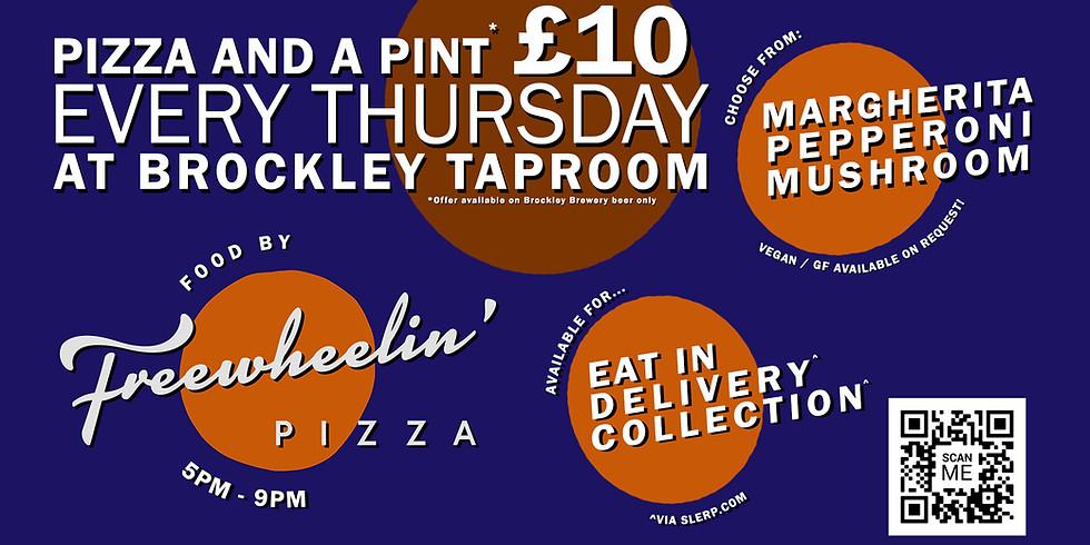 Pizza and a Pint £10 Thursdays!