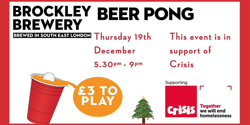 Christmas Beer Pong fundraiser for Crisis